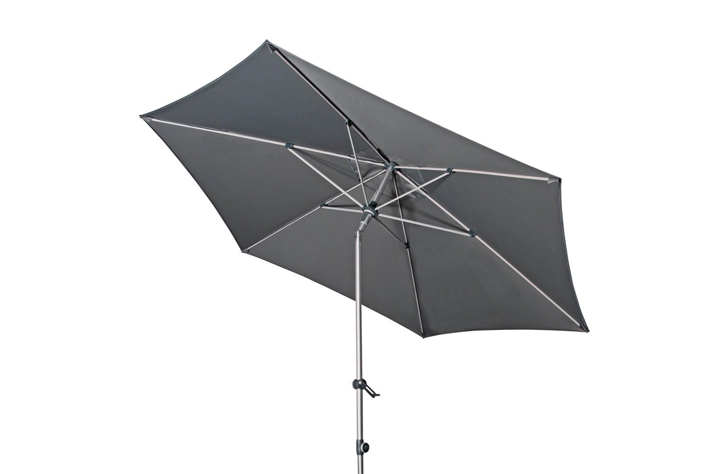 Expert s automatickým naklápěním 280 cm nastavitelný – naklápěcí slunečník s klikou, 840