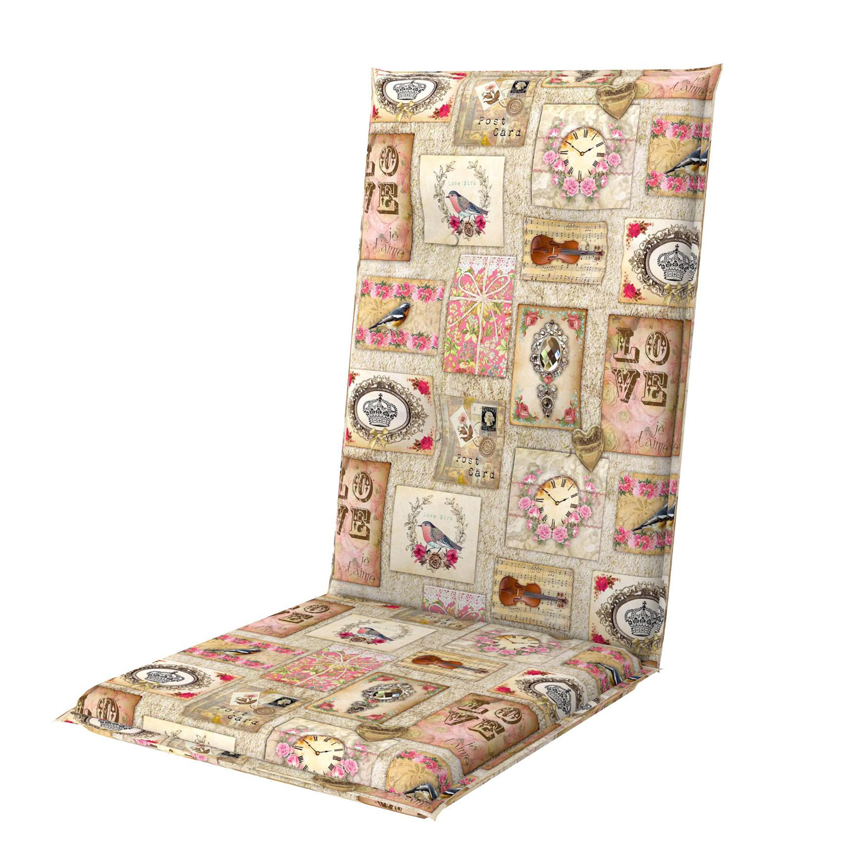 LIVING DE LUXE 5037 vysoký - polstr na židli a křeslo