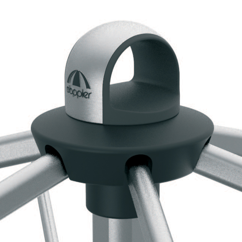 Expert s automatickým naklápěním 320 cm nastavitelný – naklápěcí slunečník s klikou, 820