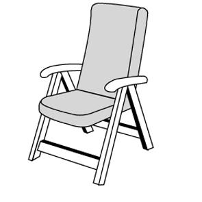 STAR se zipem 7040 vysoký - polstr na židli a křeslo s podhlavníkem