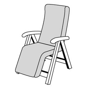 STAR se zipem 7040 relax - polstr na relaxační křeslo s podhlavníkem