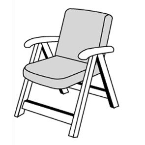 LIVING 8904 nízký - polstr na židli a křeslo