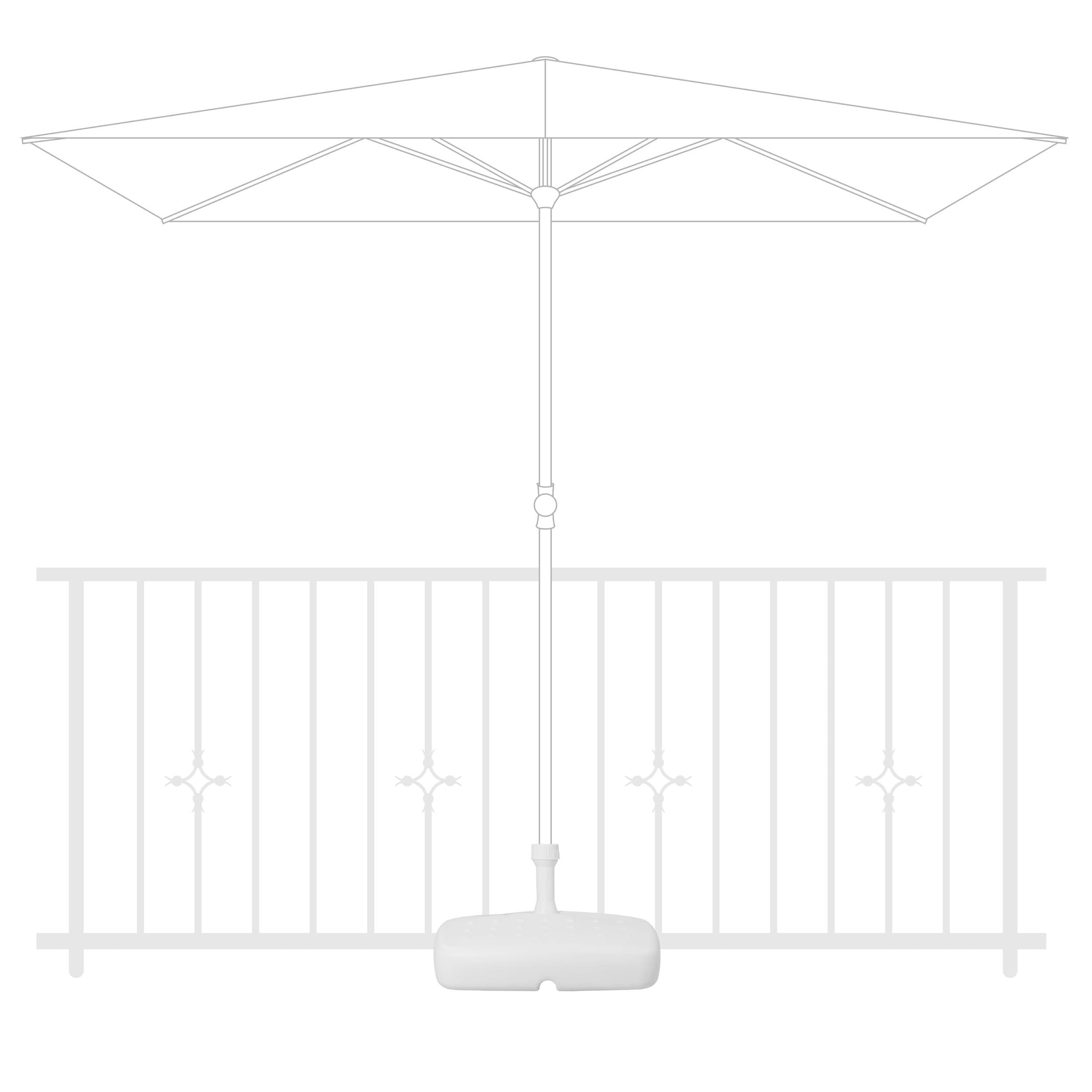 Sokl PVC balkónový plnitelný 17 l bílý
