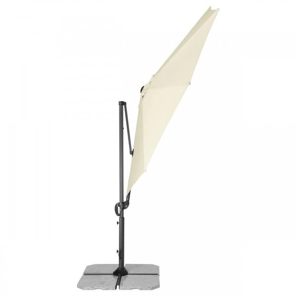 RAVENNA SMART 3 m – zahradní výkyvný slunečník s boční tyčí, 820