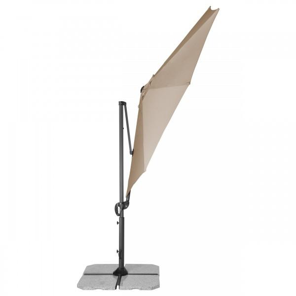 RAVENNA SMART 3 m – zahradní výkyvný slunečník s boční tyčí, 846