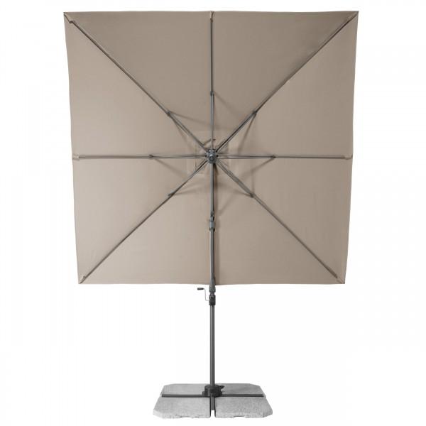 RAVENNA Axial 275x275 cm – zahradní výkyvný slunečník s boční tyčí, 846