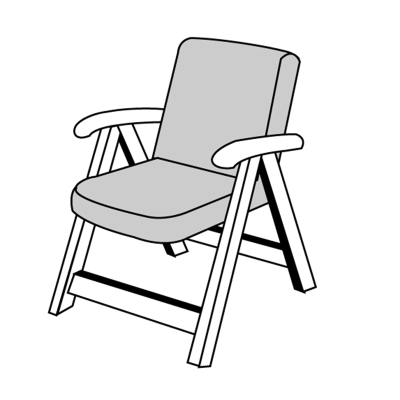 HIT UNI 9827 nízký – polstr na židli a křeslo