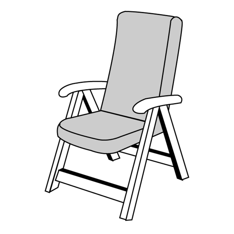 HIT UNI 9827 vysoký - polstr na židle a křesla