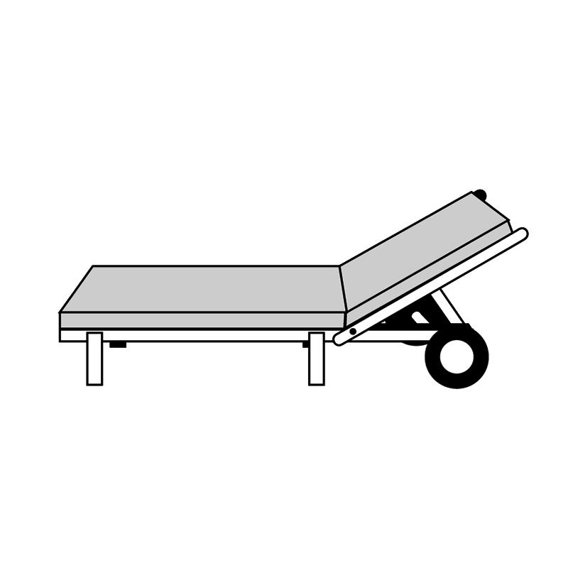 HIT UNI 9827 - polstr na zahradní lehátko