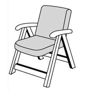 LIVING 2112 nízký - polstr na židli a křeslo