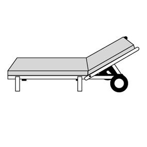 STAR UNI 4C61 - polstr na zahradní lehátko s podhlavníkem