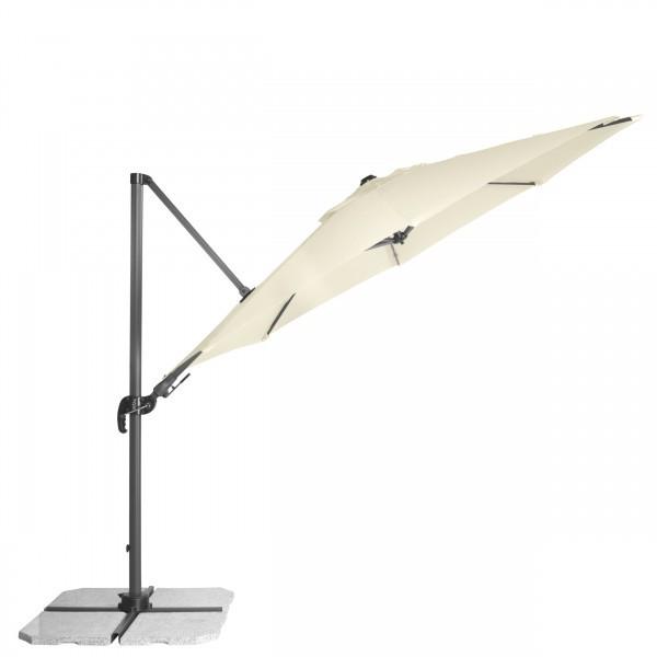 RAVENNA 3,3 m – velký zahradní výkyvný slunečník s boční tyčí, 820