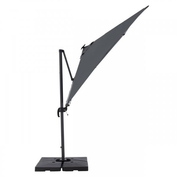 RAVENNA 2,5 x 2,5 m – zahradní naklápěcí boční slunečník s LED osvětlením