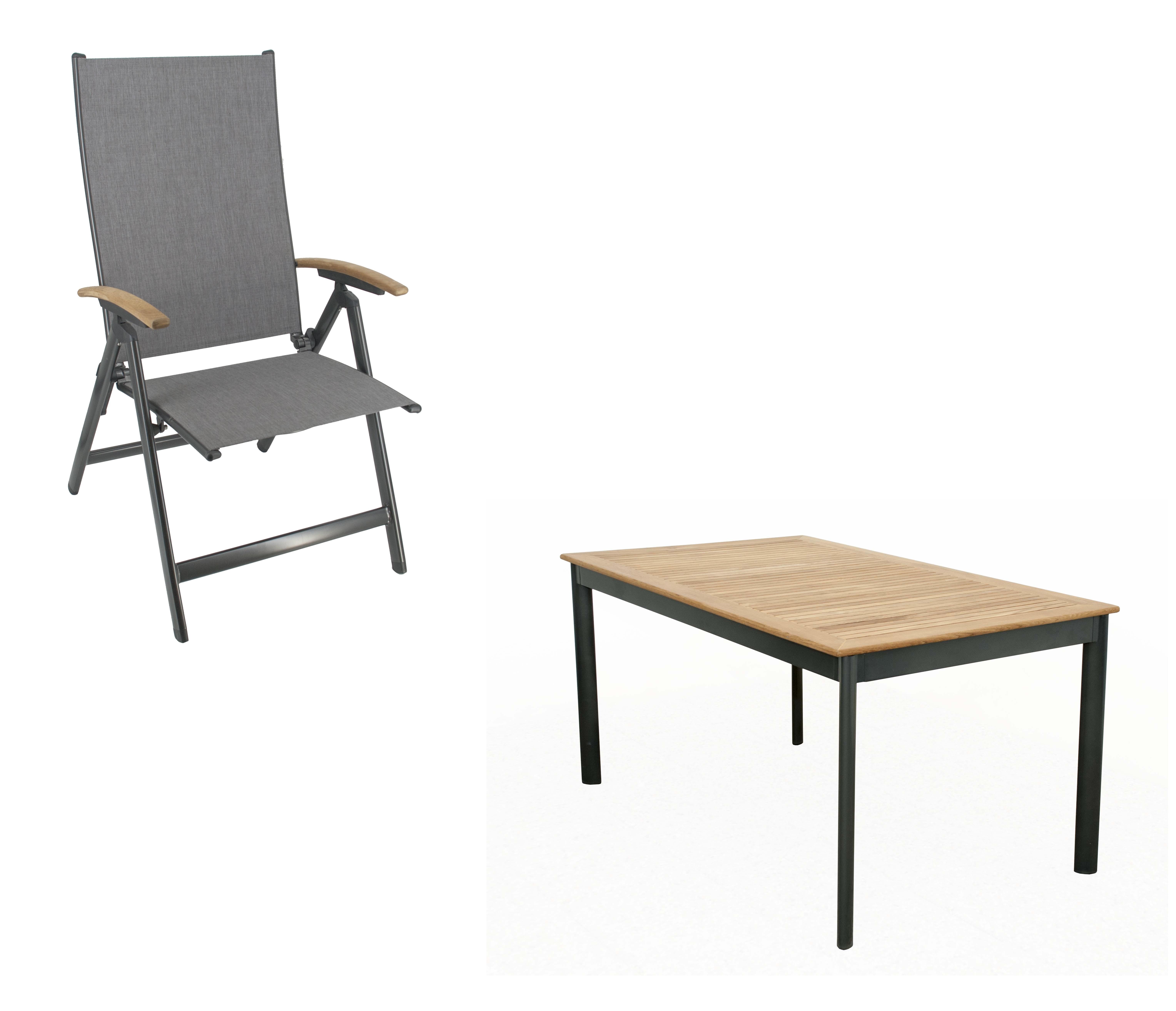 CONCEPT KENDO 4 plus 1 - zahradní sedací souprava (hliník/teakové dřevo)