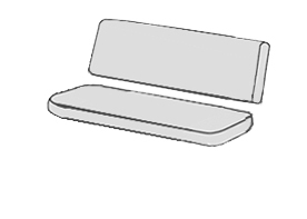 SPOT 7103 - polstr na houpačku 150 cm, Sedák a opěrka zvlášť