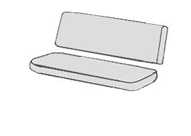 HIT UNI 9820 - polstr na houpačku 150 cm, Bez zipu (sedák a opěrka zvlášť)