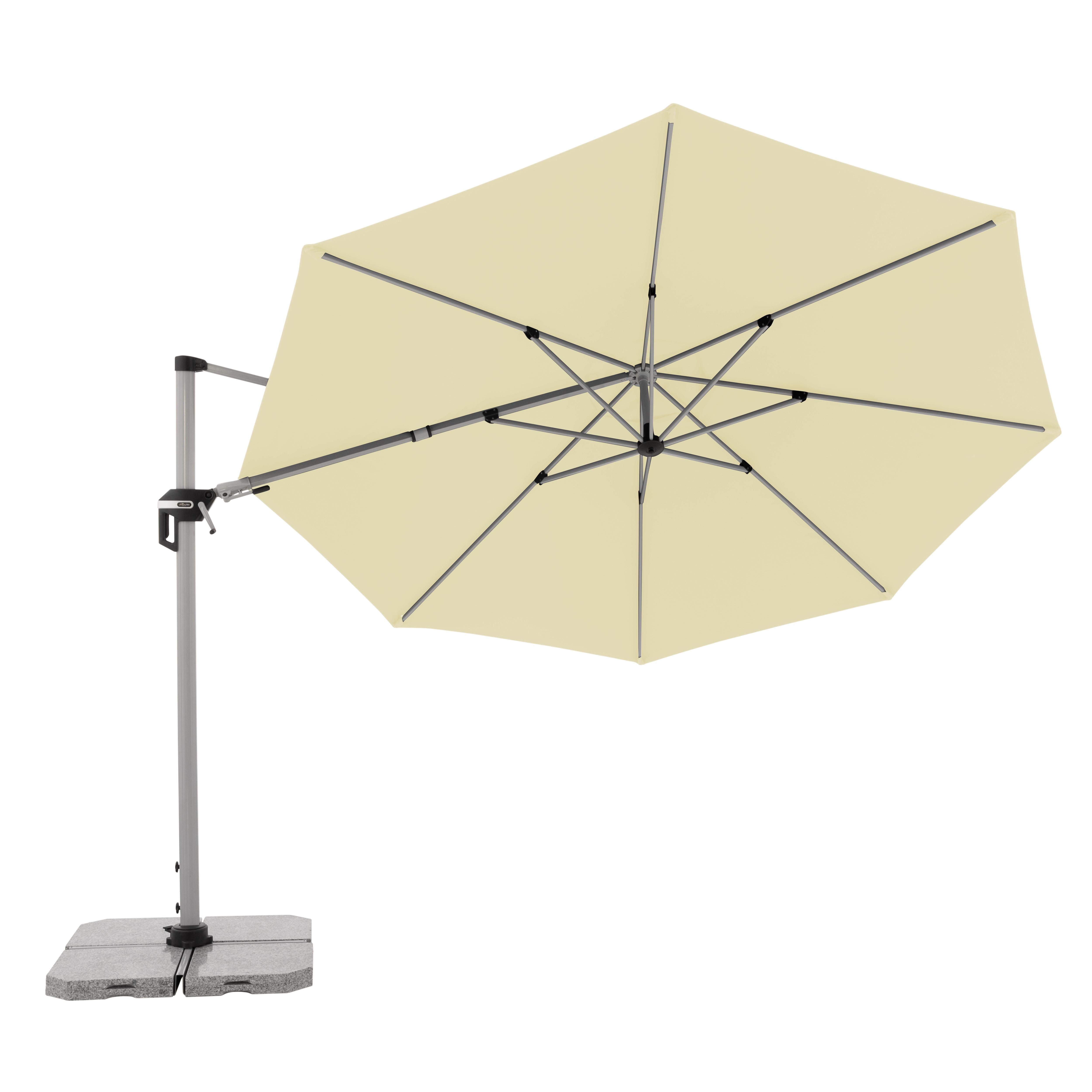 ACTIVE 370 cm - výkyvný zahradní slunečník s boční tyčí