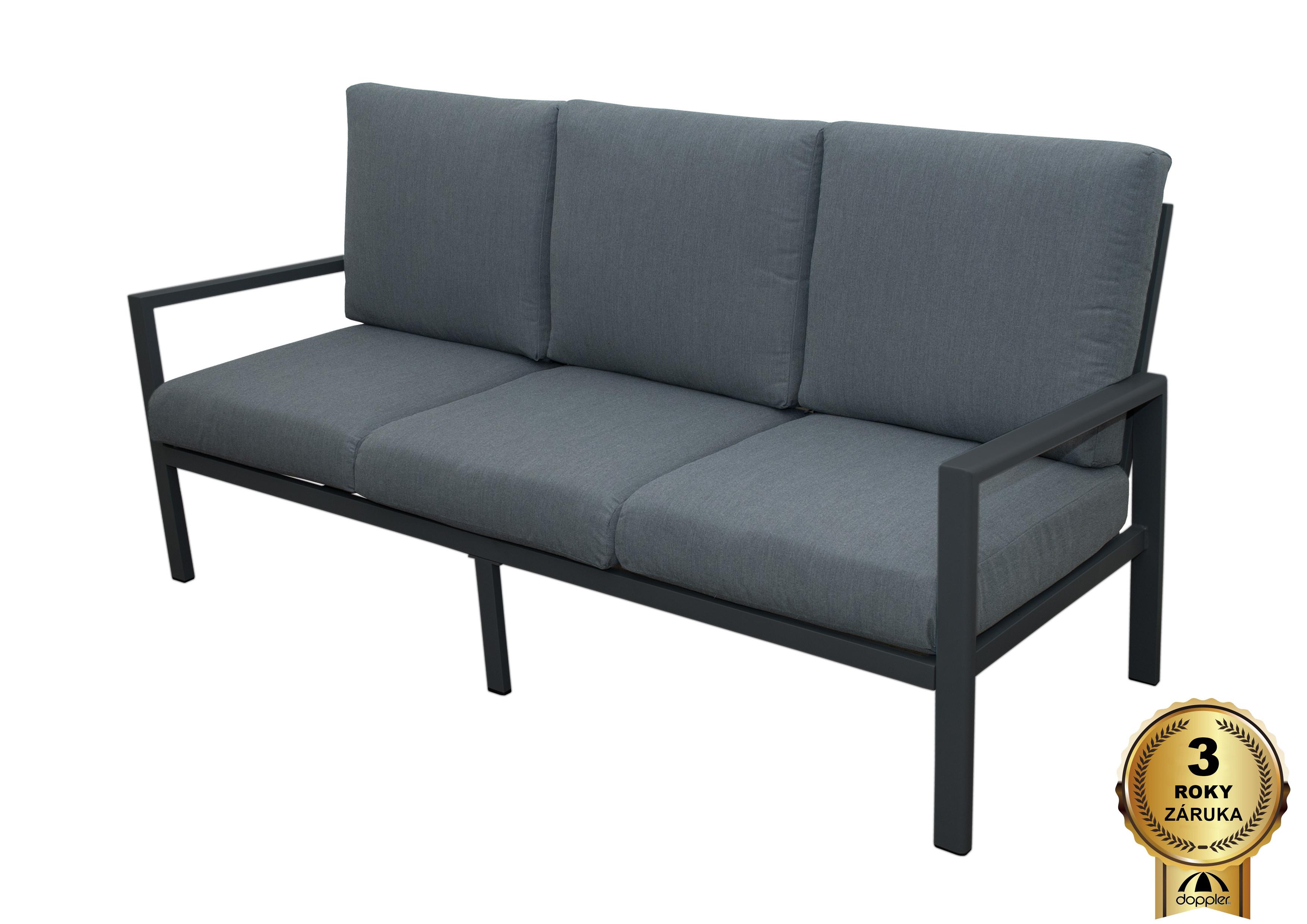 MORISS - zahradní hliníková pohovka 3 sedadlová