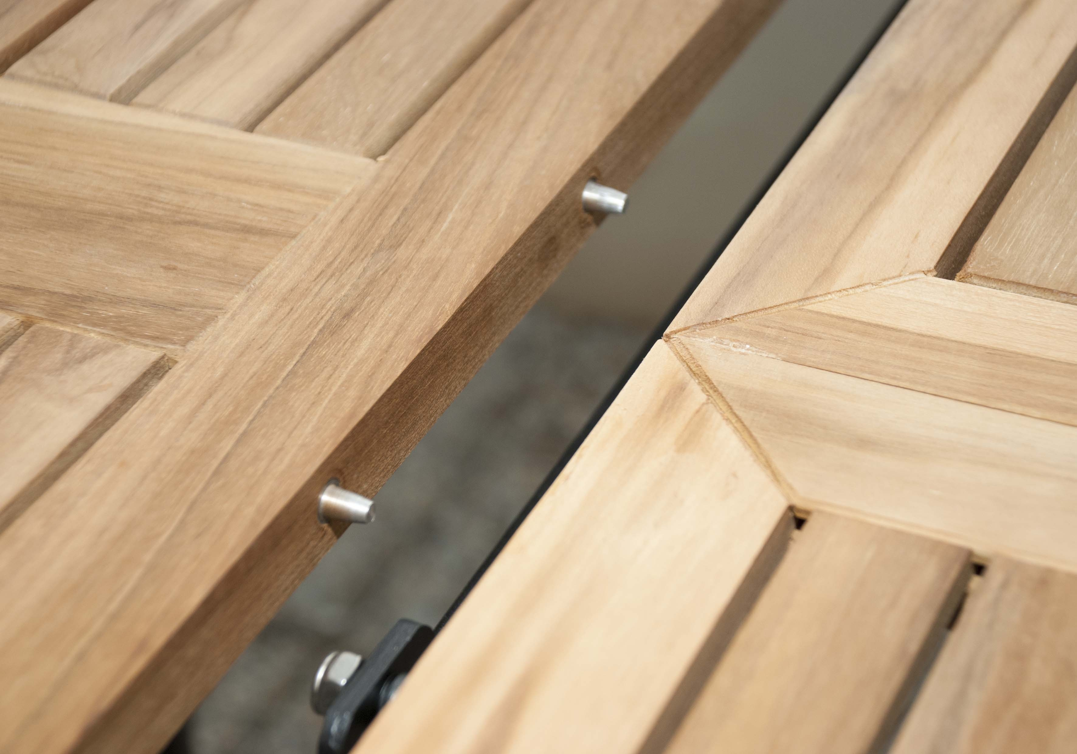 CONCEPT - rozkládací stůl s teakovou deskou 150/210x90x75 cm