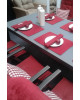 SALERNO - stůl se skleněnou deskou 210x100x74cm