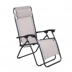 RELAX béžové - relaxační křeslo polohovací