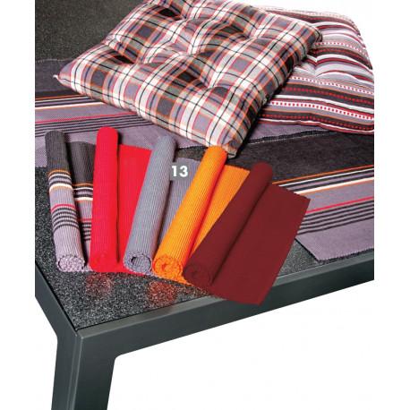 Prostírání jednobarevné strukturované, 100% bavlna, set 2 ks, des. 840 antracit