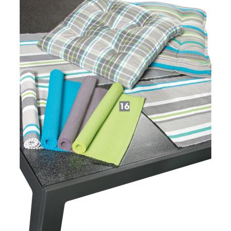 Prostírání jednobarevné strukturované, 100% bavlna, set 2 ks, des. 841 zelená