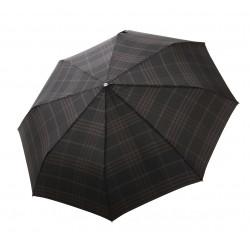 Gran Turismo Check Black - pánský plně automatický skládací deštník