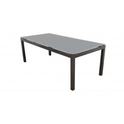 SALERNO - hliníkový zahradní stůl 150x90x75 cm