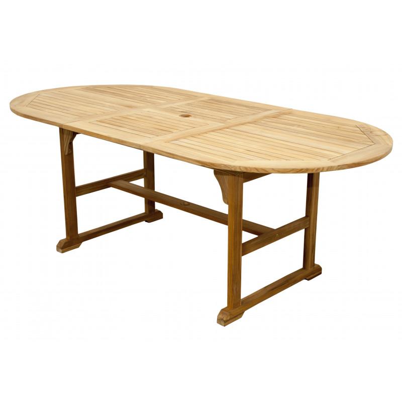 TORINO - teakový rozkládací stůl 150/200x100x74m