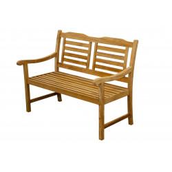Teaková zahradní lavice 2 sedadlová