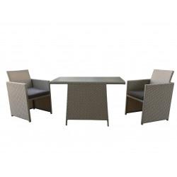 Balkonový ratanový sedací set se stolem