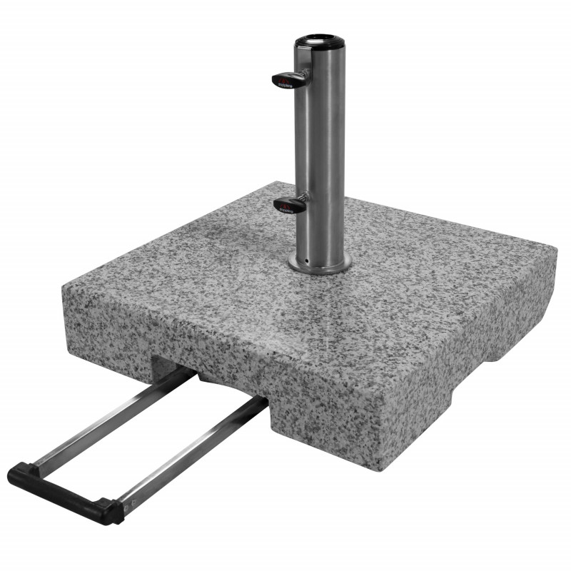 TROLLEY 70 kg - žulový pojízdný stojan pro slunečníky