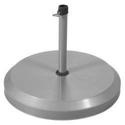 Stojan na slunečník - betonový 20 kg stříbrný