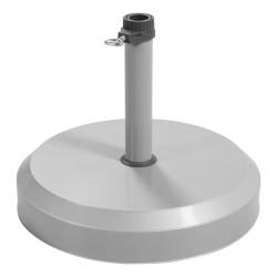 Stojan na slunečník - betonový 25 kg stříbrný
