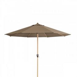 ALU WOOD 3,5 m - slunečník s automatickým naklápěním klikou