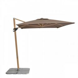 Alu Wood 2,2 x3 m – zahradní výkyvný slunečník s boční tyčí