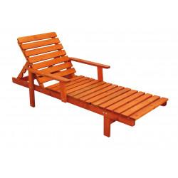 ANETA - zahradní dřevěné lehátko s polstrem