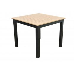 EXPERT WOOD antracit -  gastro hliníkový stůl 90x90x75cm
