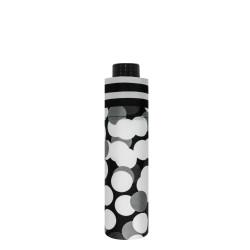 Fiber Havanna Black&White - dámský mechanický skládací deštník