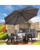 RAVENNA 330 cm – velký zahradní výkyvný slunečník s boční tyčí