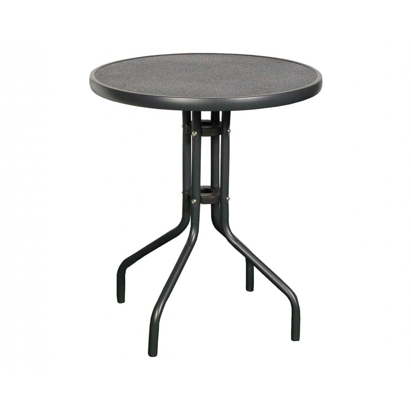 RAINBOW - ocelový stůl s keramickou deskou kulatý Ø 60cm