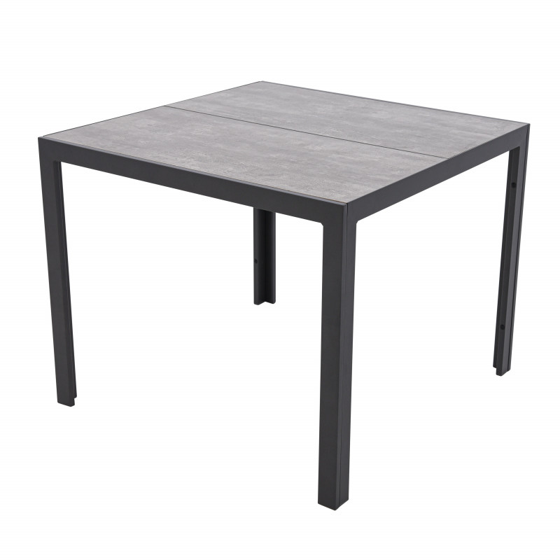 BERGAMO - hliníkový zahradní stůl 90x90 cm