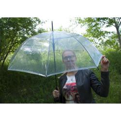 Hit Lang Automatik - dámský automatický průhledný deštník
