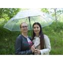 Hit Long Průhledný - dámský holový vystřelovací deštník