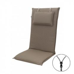 STAR se zipem 7046 vysoký - polstr na židli a křeslo s podhlavníkem