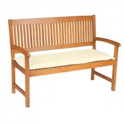 Sedák na lavici 2 sedadla 120x45cm přírodní