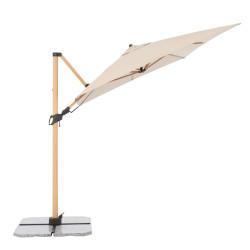 ALU WOOD 220 x 300 cm - výkyvný zahradní slunečník s boční tyčí