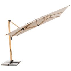 ALU WOOD XL 400 x 300 cm - výkyvný zahradní slunečník s boční tyčí