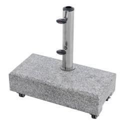 Žulový balkónový stojan 25 kg s úchytem a kolečky